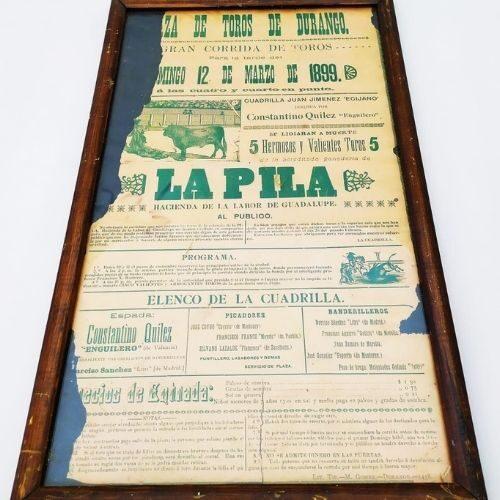 Affiche - Tauromachie - 1899 - Durango