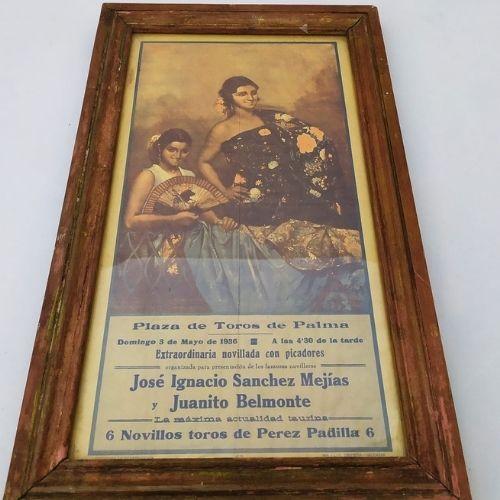poster - tauromachie - palmier