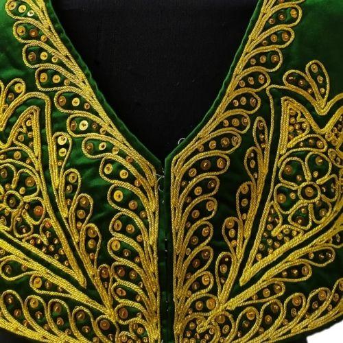 Chaleco de torero verde y oro