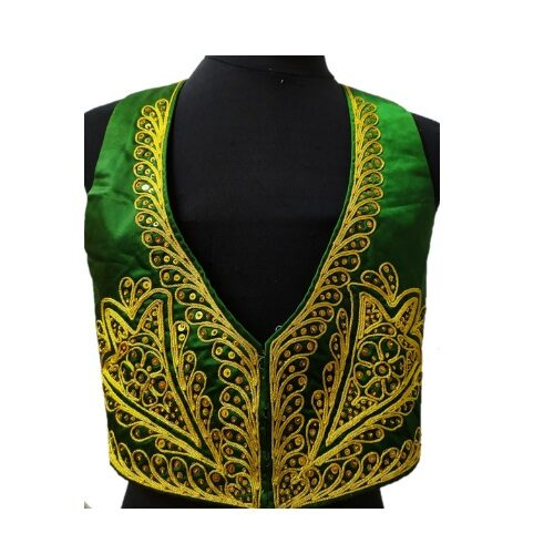 Chaleco verde y oro