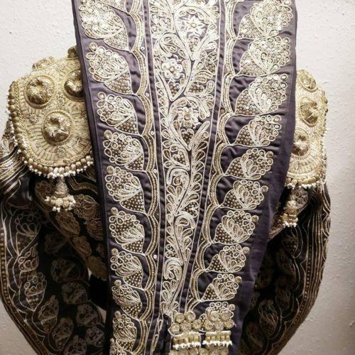 Costume de matador gris et argent d'occasion